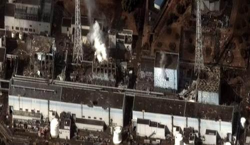 La centrale de Fukushima après le tsunami