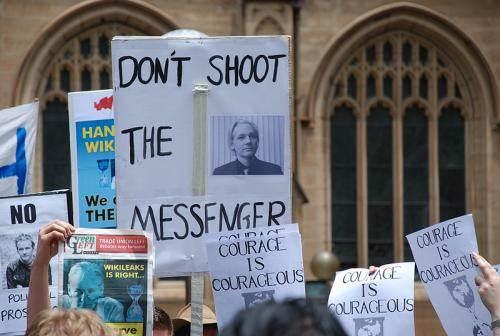 Manifestation pour Assange à Sydney en décembre 2010