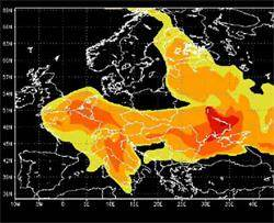 Image du nuage de Tchernobyl