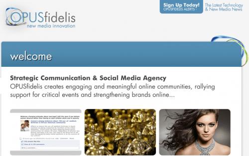 Le site d'Opus Fidelis