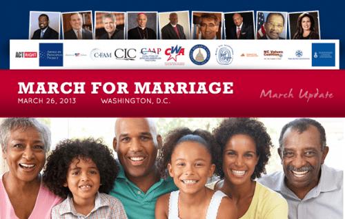Une marche pour le mariage, sur le site de NOM