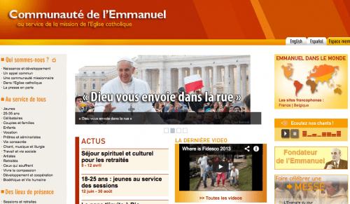 Ler site de la communauté de l'Emmanuel