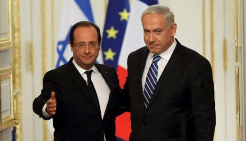 François Hollande et Benjamin Netanyahou à l'Élysée
