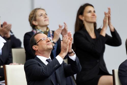 François Hollande au défilé du 14 Juillet