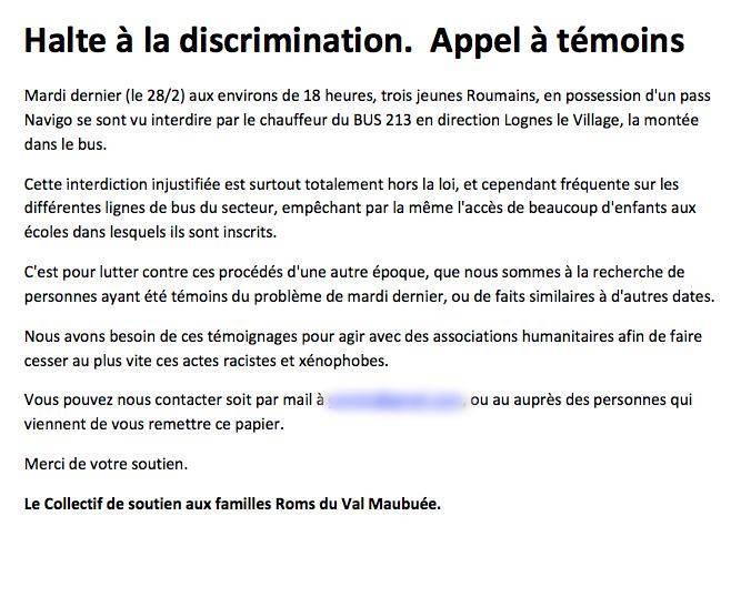 L'appel à témoins diffusé à la gare RER de Noisy-Champs quelques jours après les faits.