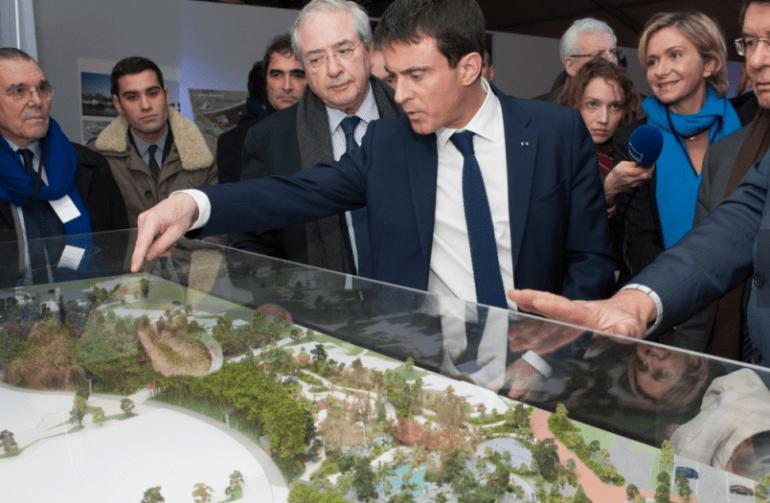 Manuel Valls lors de la pose de la première pierre du chantier de Village Nature, de Pierre et Vacances/EuroDisney (©P Granier)