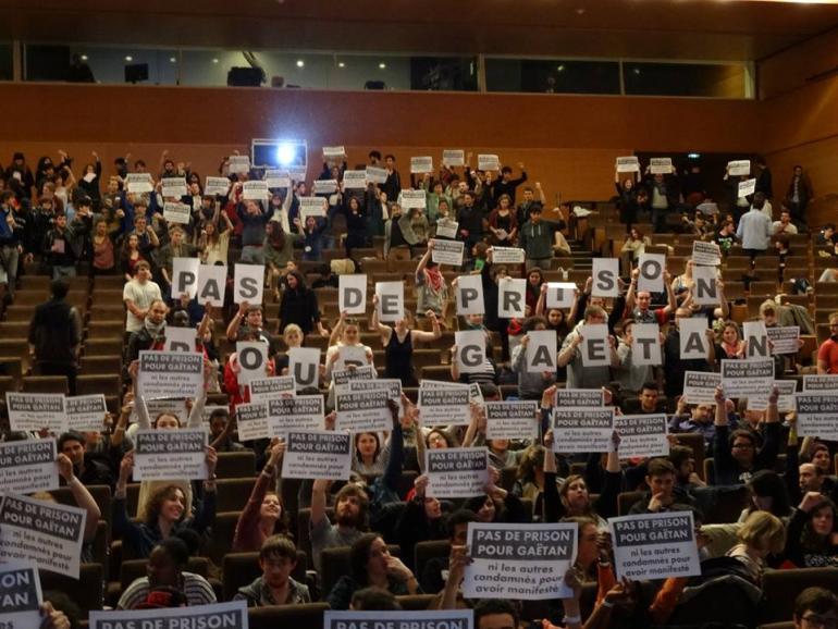 Congrès de l'Unef le 12 avril 2015.