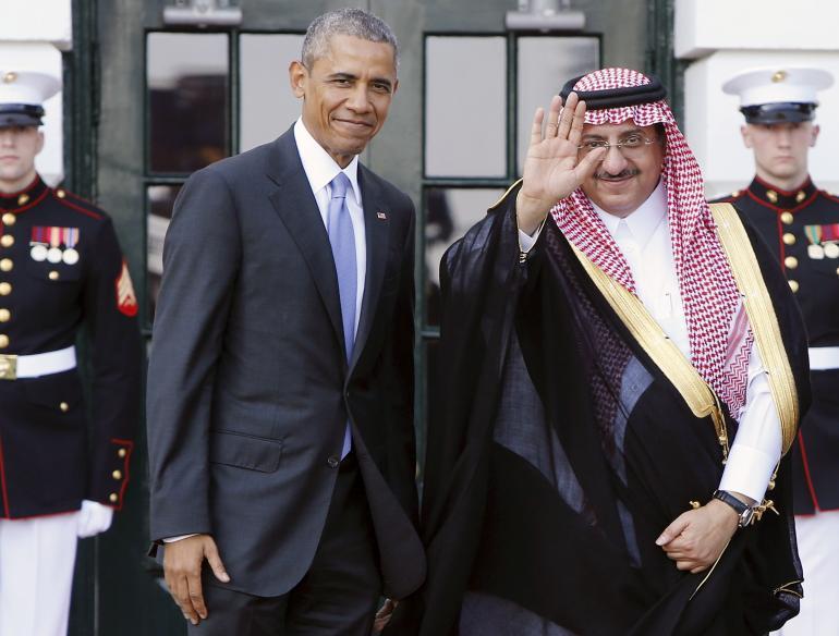Barack Obama et le prince héritier Mohammed Bin Nayef en mai