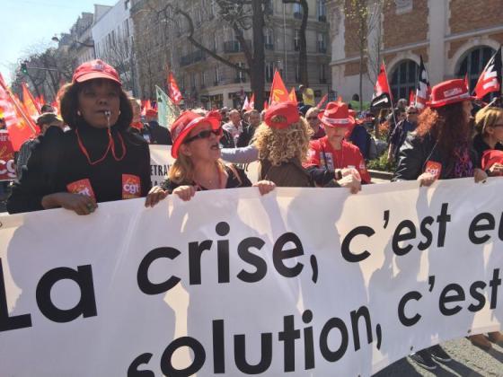 Manifestation parisienne, le 9 avril, contre l'austérité