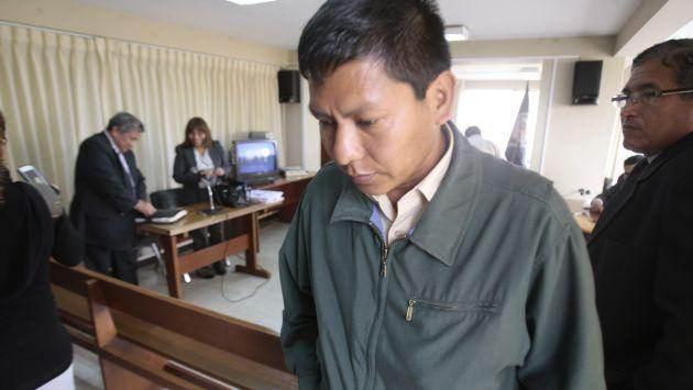 Amílcar Gómez Amasifuén, cercano a Ollanta Humala, en su juicio por sobornación de testigo en 2011.