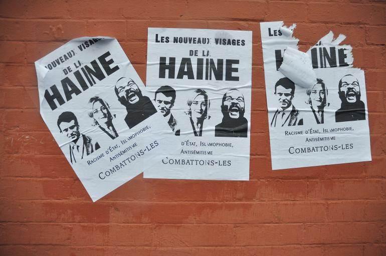 Affiches collées par le Mouvement inter Lycées indépendant en amont de la manifestation.