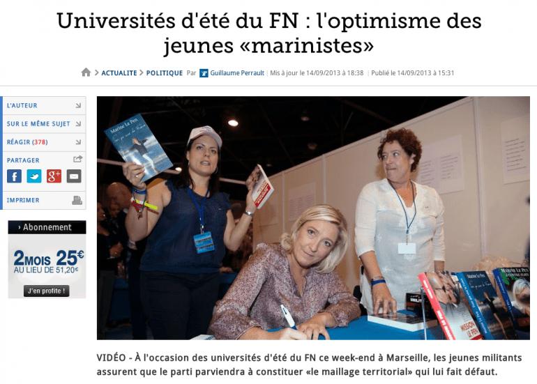 Article paru sur le site du Figaro le 14 septembre.
