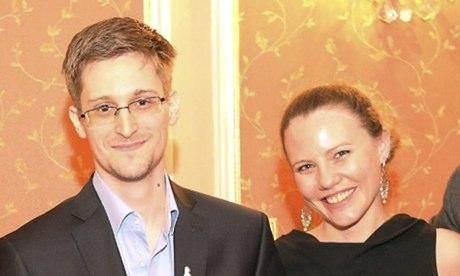 Edward Snowden et Sarah Harrison