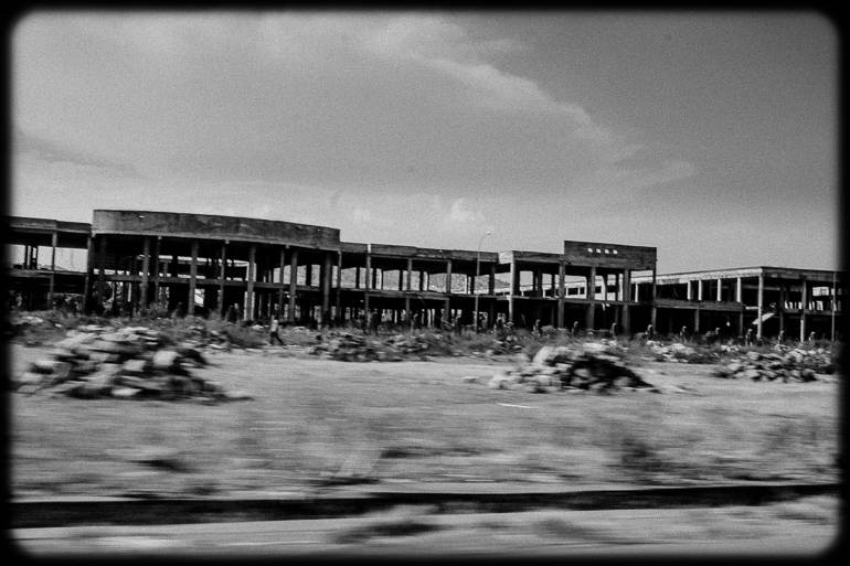 Un des bâtiments inachevés du quartier ACI 2000 de Bamako. Octobre 2014.