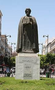 Statue d'Ibn Khaldun à Tunis