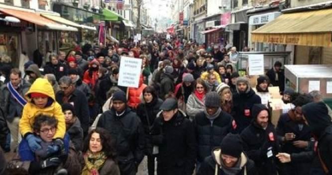 500 personnes manifestent dans les rues de Montreuil en soutien au Méliès, le 19 janvier