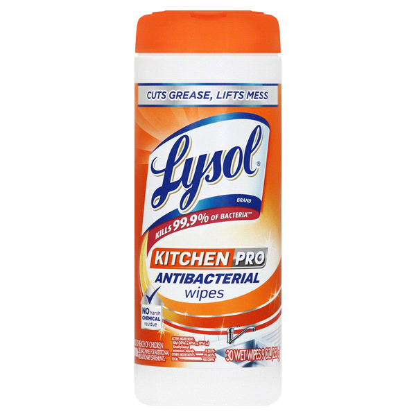lysol antibacterial kitchen cleaner country rugs pro wipes 30 count meijer com