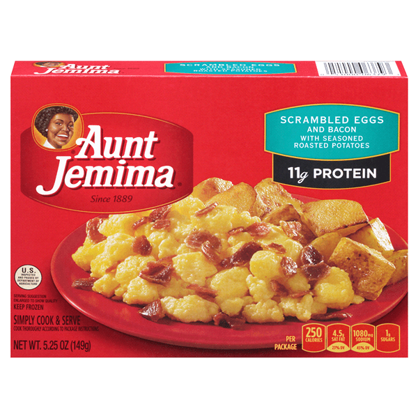 aunt jemima kitchen curtains pull down cabinets for the disabled w hash brown potatoes scrambled eggs bacon 5 25 oz meijer com