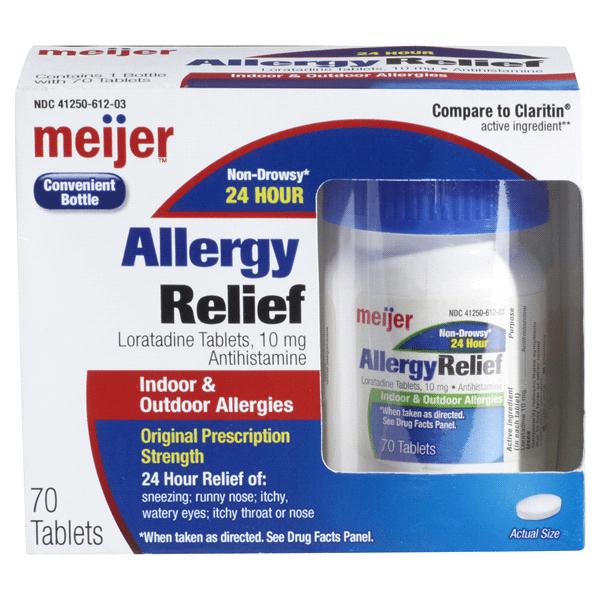 Meijer Allergy Relief Loratadine Tablet  Ct