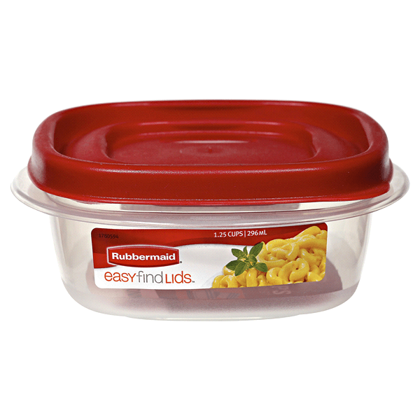rubbermaid kitchen storage containers remodeling philadelphia easy find lids square food container 1 25 cup