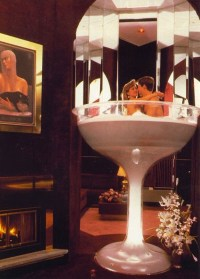 You could spend your Honeymoon in a 7-foot Champagne Glass ...