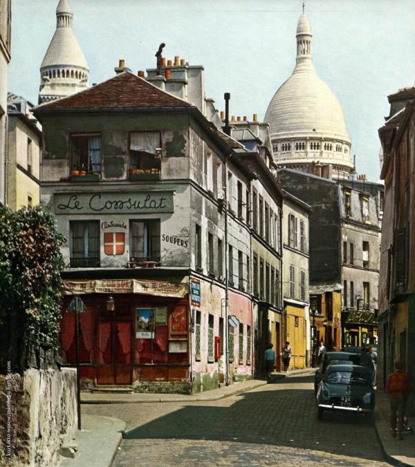 Montmartre Paris 1950s