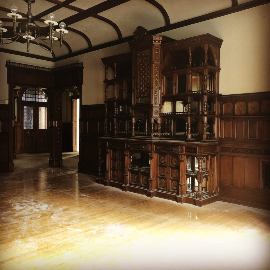An Empty Victorian Mansion Complete With An Abandoned
