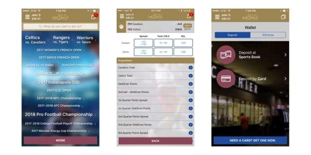 playmgm sports betting app screenshots