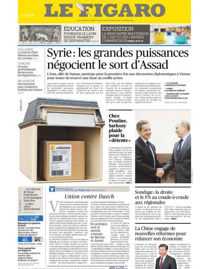 Le Figaro du Vendredi 30 Octobre 2015