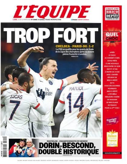 L'Équipe du jeudi 10 mars 2016