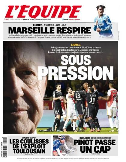 L'Équipe du lundi 02 mai 2016