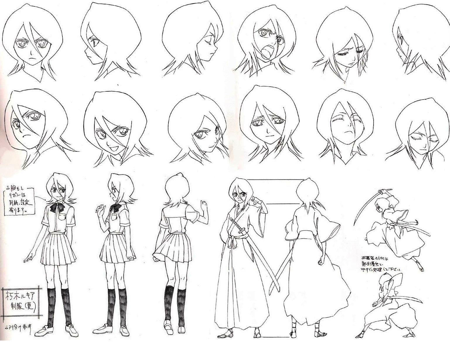 Bleach Rukia Outlines