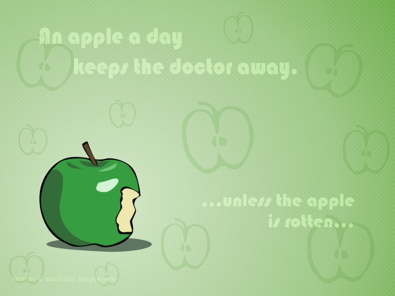 Doctor Who Quote Wallpaper Original Wallpaper An Apple A Day Minitokyo