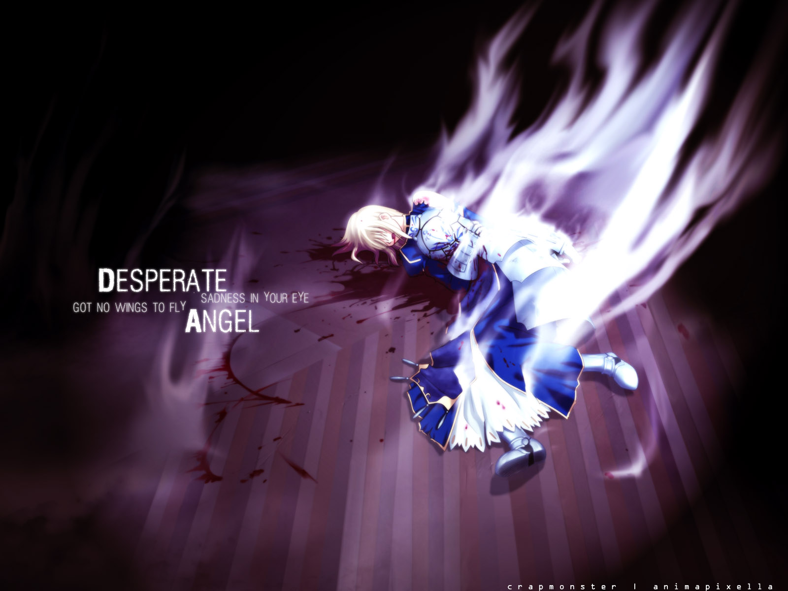 Godly Wallpaper Quotes Fate Stay Night Wallpaper Desperate Angel Minitokyo