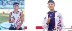 Atletismo: Lautaro Amarilla y Gastón Benitez partieron al Sudamericano de Perú