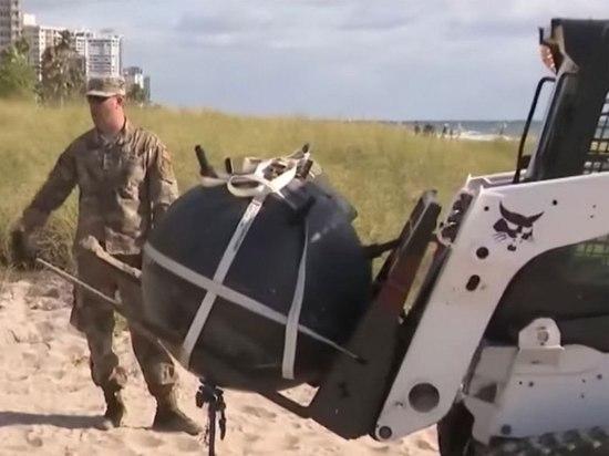 На пляж Флориды выбросило морскую мину