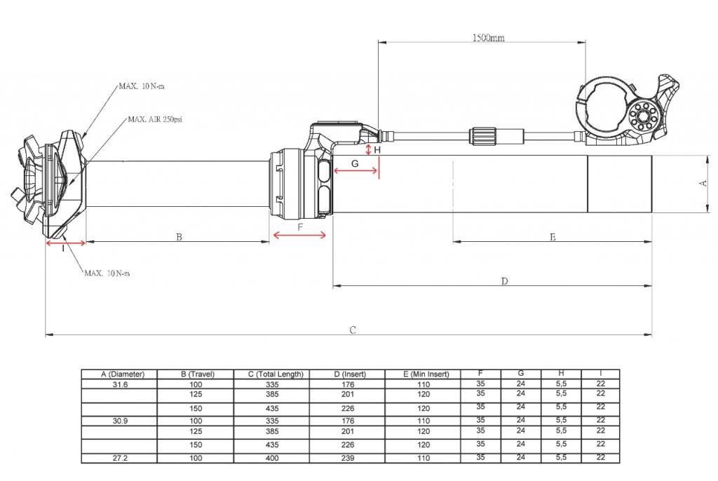 KS LEV 27.2 Height Adjust Seatpost 400/100mm Remote