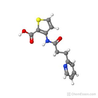 3-[3-(pyridin-2-yl)propanamido]thiophene-2-carboxylic acid