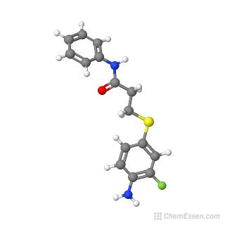 3-[(4-amino-3-fluorophenyl)sulfanyl]-N-phenylpropanamide