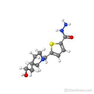 5-{[3-(2-hydroxyethyl)pyrrolidin-1-yl]methyl}thiophene-2