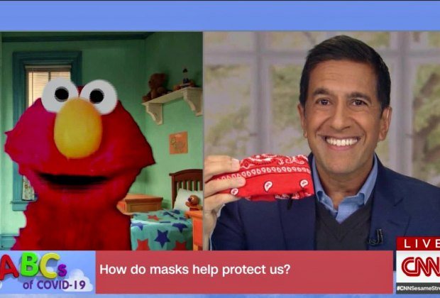 Elmo does a Town Hall! Photo: CNN.com