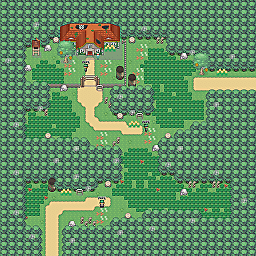 Butterfly Woods Game Map for Pokemon Online Players Route Order: 57