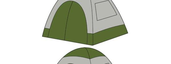 Camping Tent Cut Out Medium