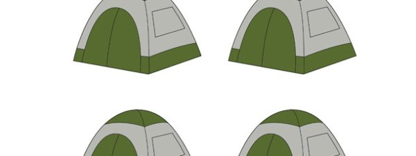 Camping Tent Cut Out Small