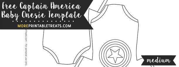 Captain America Baby Onesie Template