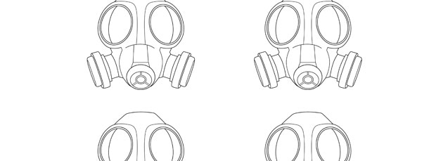 Gas Mask Template