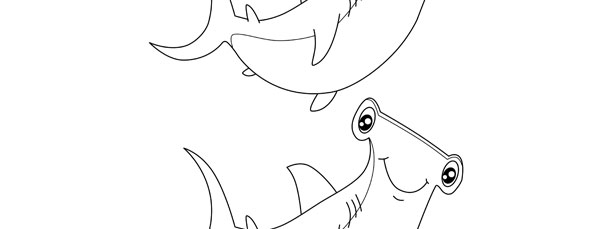 Hammerhead Shark Template