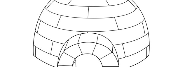 Igloo craft template