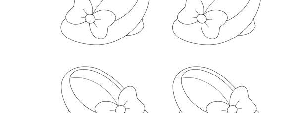 Minnie Mouse Shoe Template Clipart t