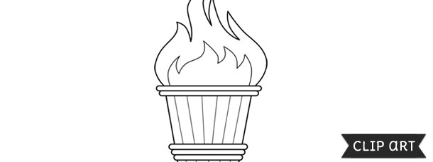 olympic torch template clipart
